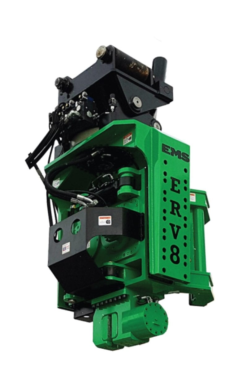 side clamp pile driver