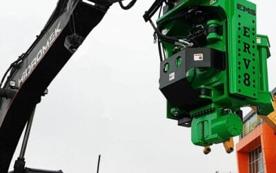 Excavator-Mounted Side Grip Pile Drivers